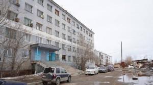 Общежитие, в котором живет семья Агафоновых.